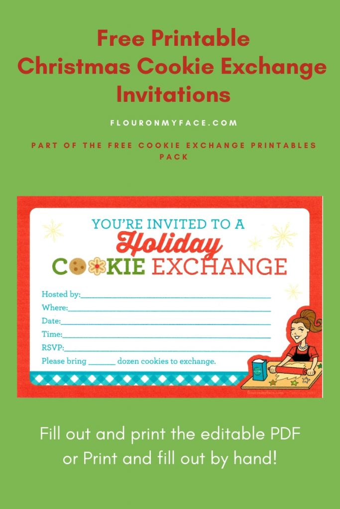 Free Printable Cookie Exchange Invitations preview