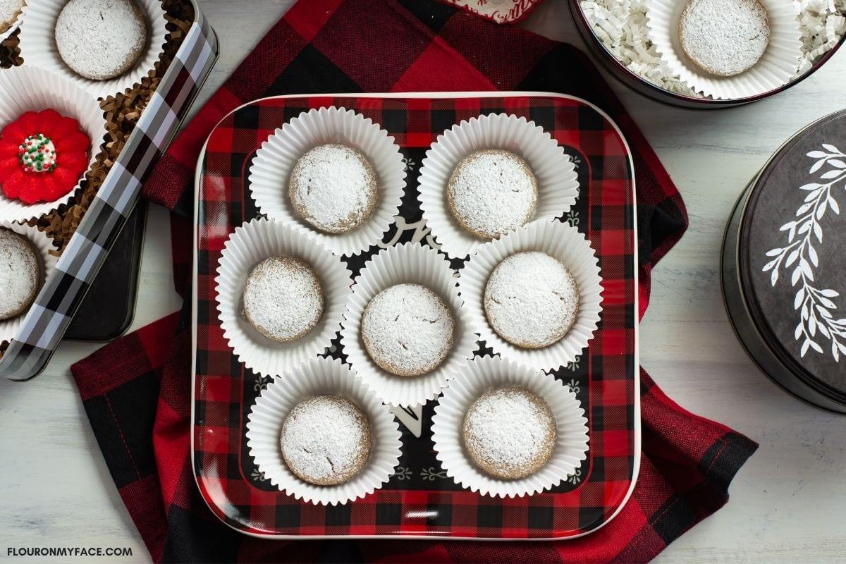 German Pfeffernusse Cookies. on a plate
