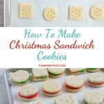 Process shots of making sandwich cookies