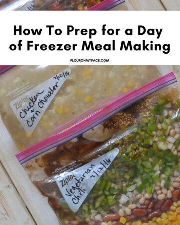 Examples of three easy freezer meal recipes that you can use when prepping for a day of freezer meal making