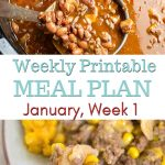 Preview image of the January Meal Plan Week 1 Menu Plan with printable menu and shopping list