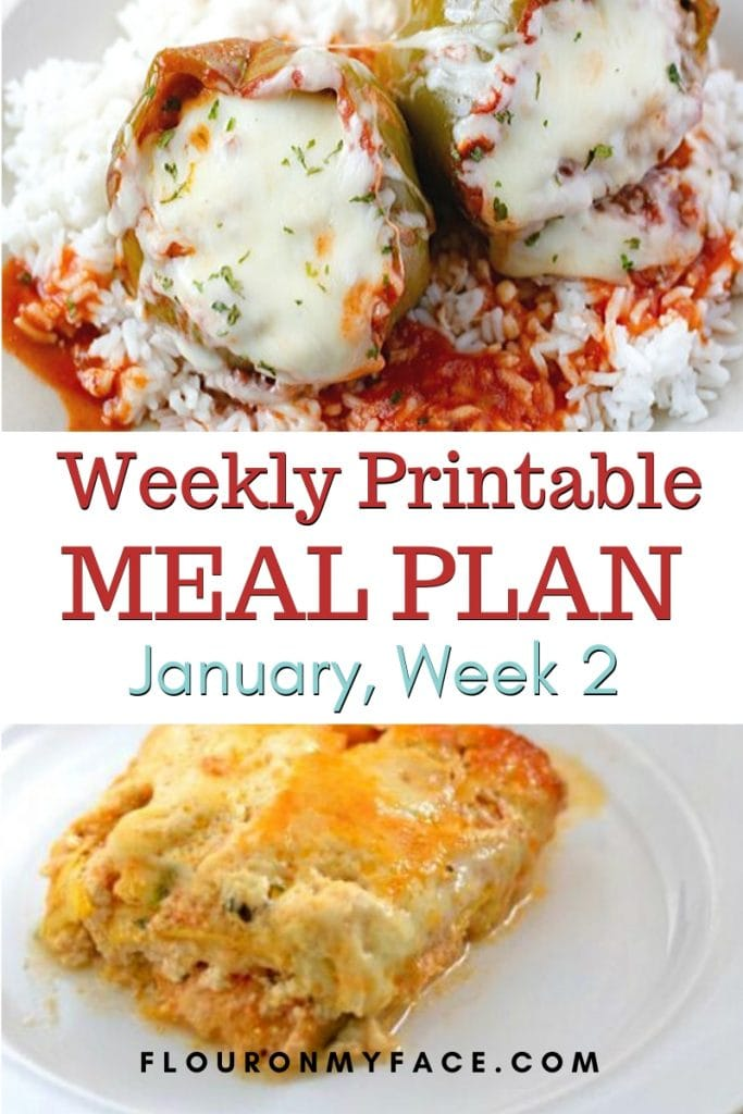 Preview image for the January Meal Plan Week 2 menu plan