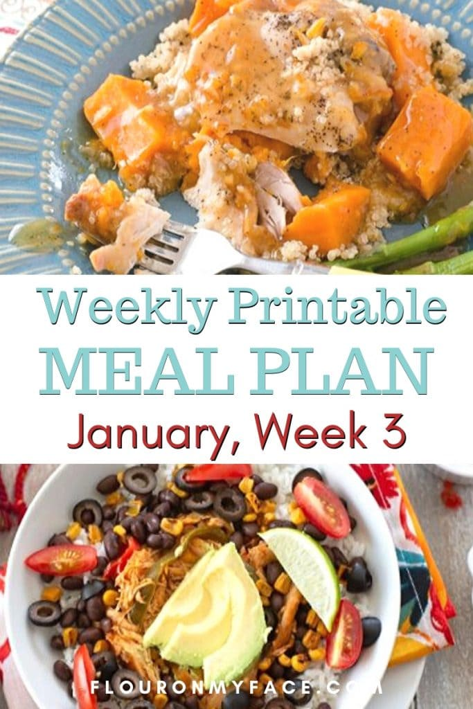 Preview image for the January Meal Plan Week 3 with Printables