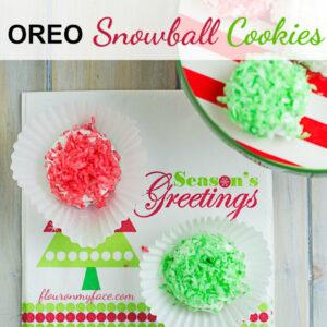 No-Bake Christmas OREO Snowball Cookies