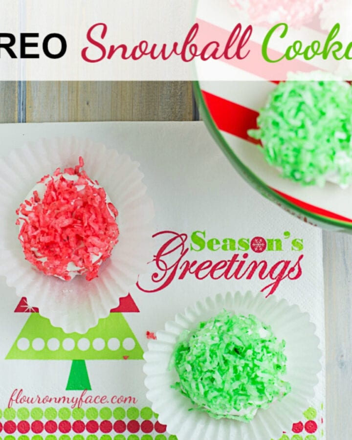 No-Bake Christmas OREO Snowball Cookies