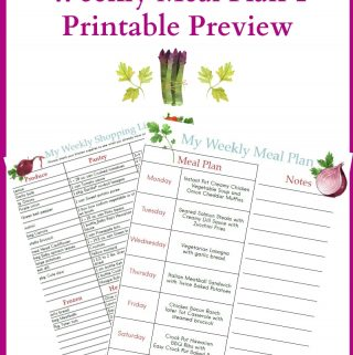 February Meal Plan 1 printable preview