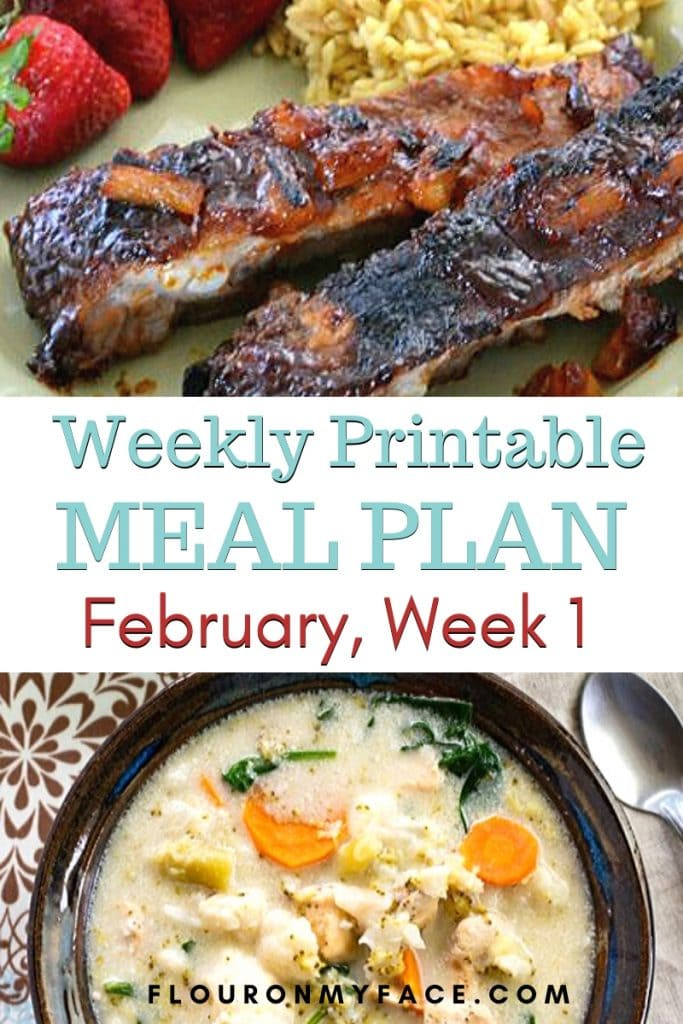 February Meal Plan Week 1 Menu Plan preview image
