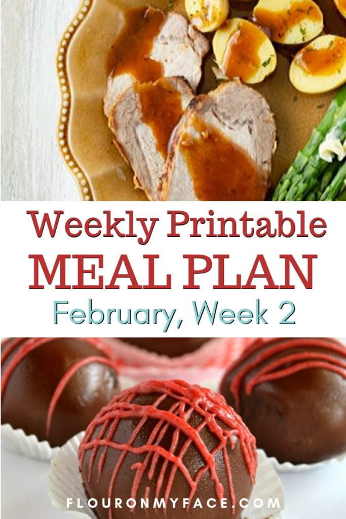 preview for February Meal Plan Week 2 with printable menu and shopping list