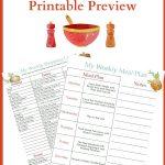 January Meal Plan Week 4 menu plan