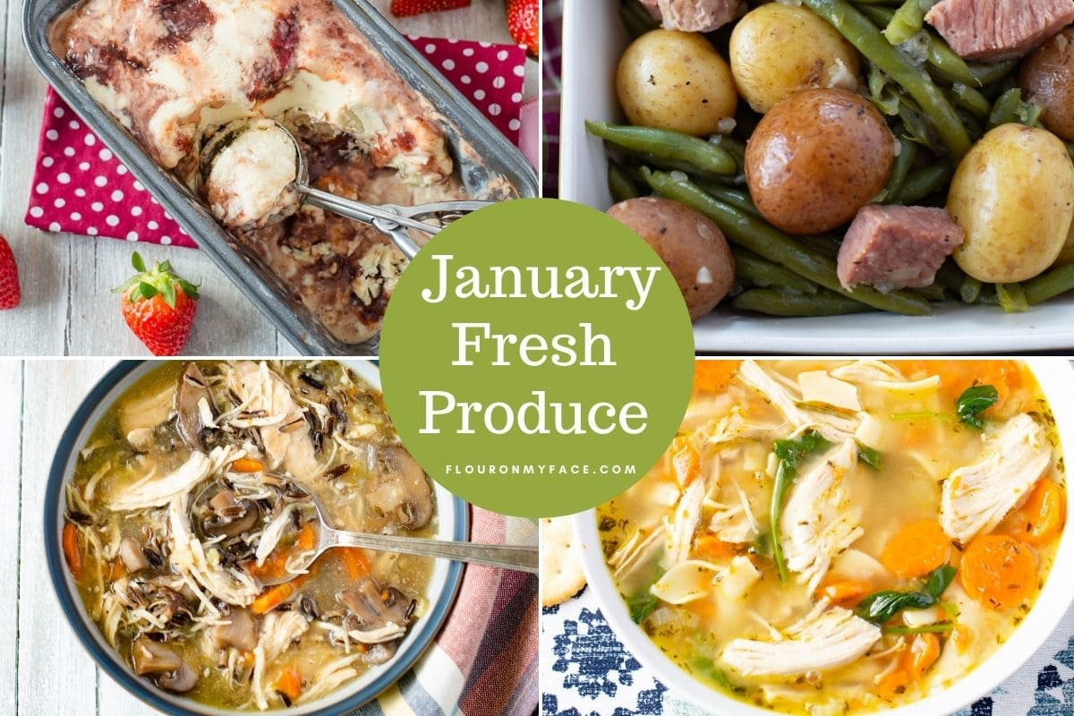January Fresh Produce preview of 4 recipes using Florida produce.