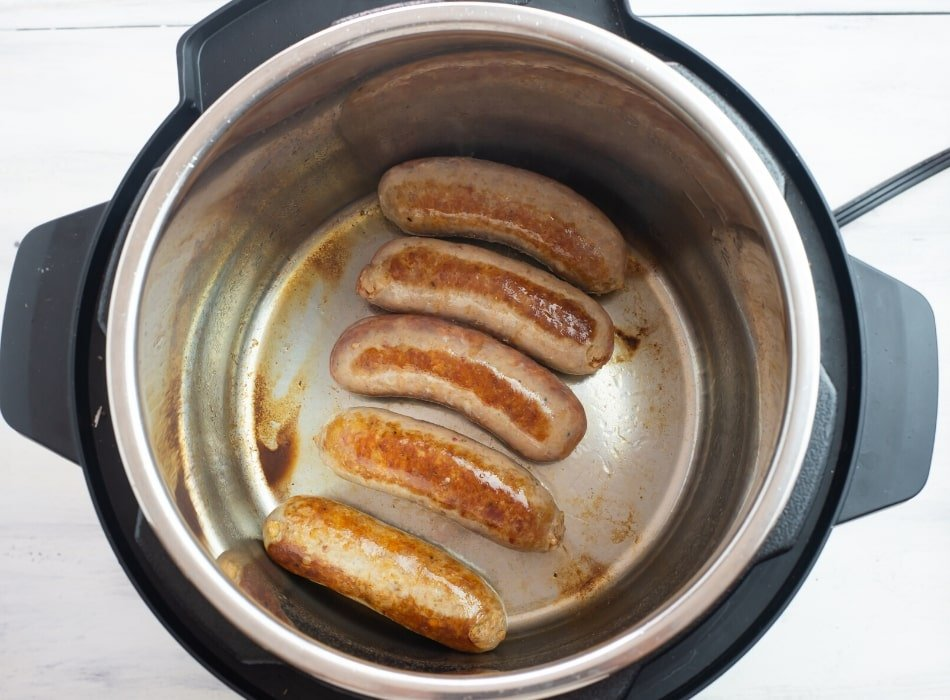 Browning Italian Sausage in the Instant Pot on saute
