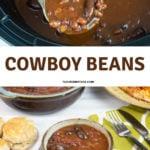 Crock Pot Cowboy Beans in a small serving bowl