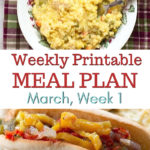 Meal Plan Week 1 with free printable menu plan and shopping list