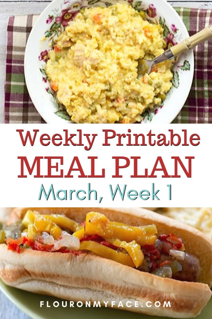 Meal Plan Week 1 with free printable menu plan and shopping list