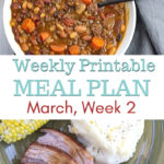 March Weekly Meal Plan Week 2 recipe preview