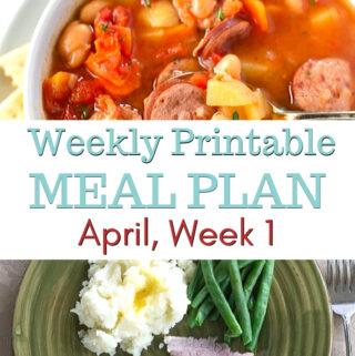 April Week 1 Meal Plan preview image