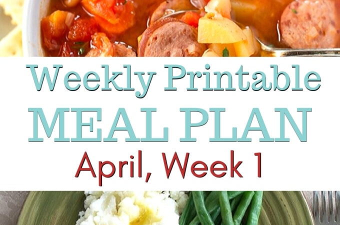 April Week 1 Meal Plan preview image