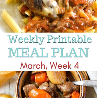 March Meal Plan Week 4 preview image