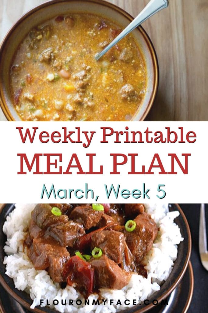 March Meal Plan Week 5 preview image