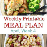 April Meal Plan Week 4 preview image