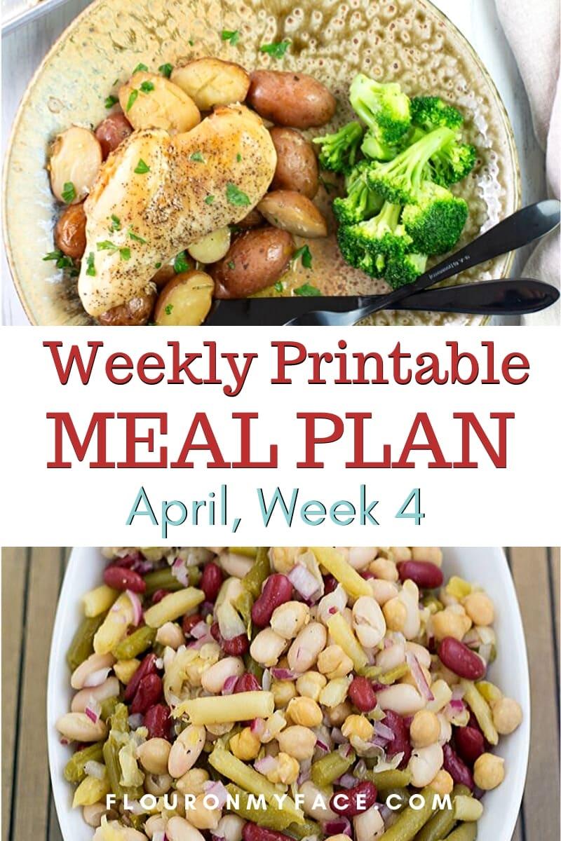 April Meal Plan Week 4 preview image