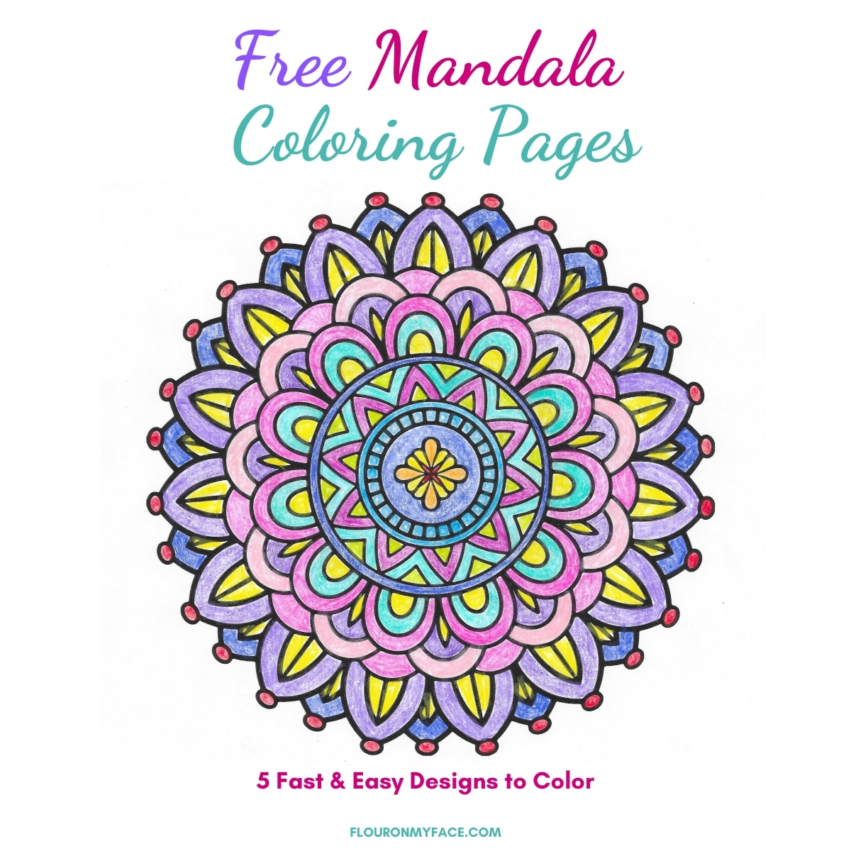 Free Mandala Coloring Pages Flour On My Face