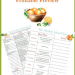 May Weekly Meal Plan Week 1 Printables
