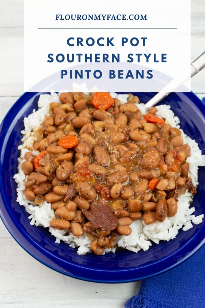 Pinto Beans over white rice