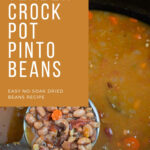 a ladle of cooked pinto beans