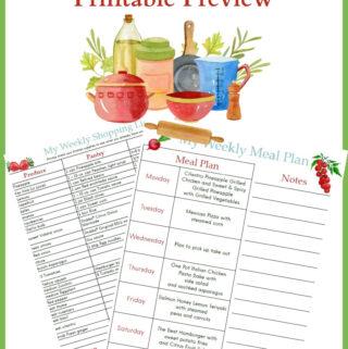 June Weekly Meal Plan 1 printables preview