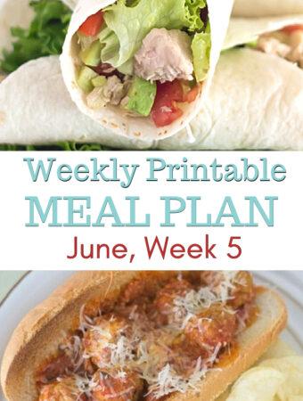 June Meal Plan Week 5 Featured image