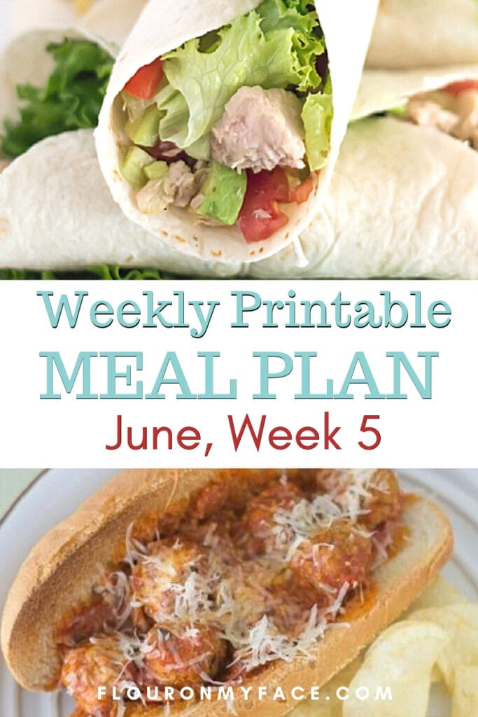 June Meal Plan Week 5 Featured image