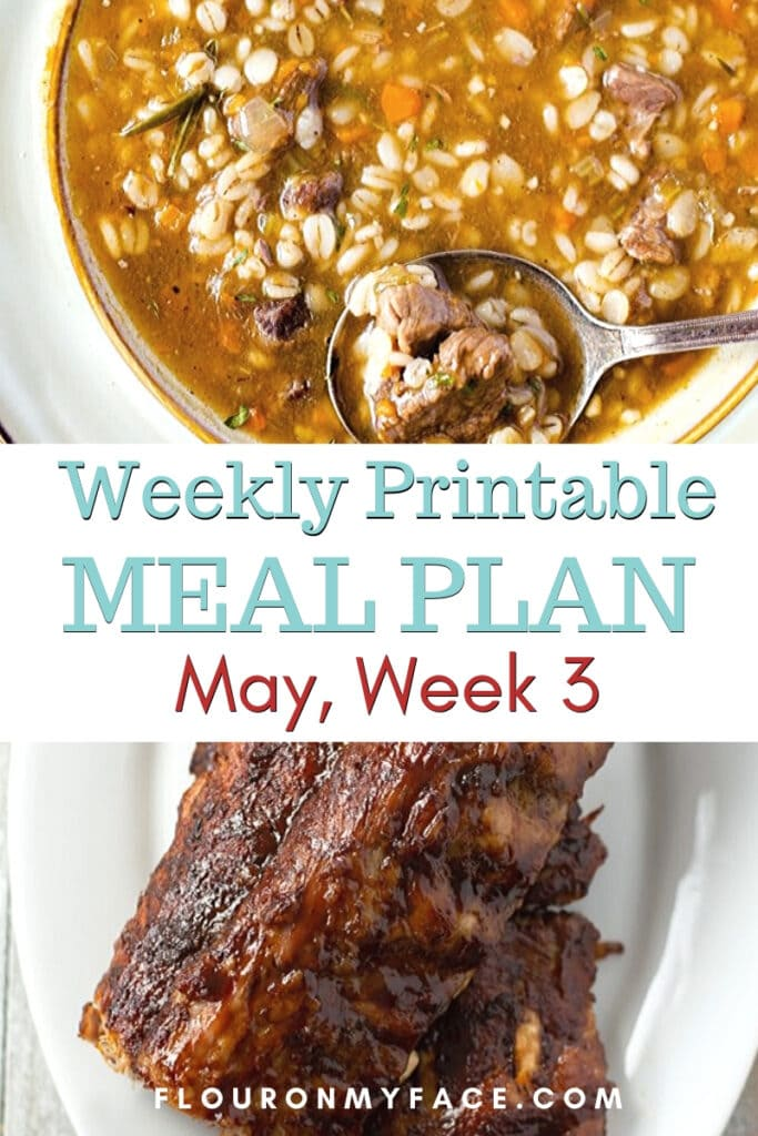 May Meal Plan Week 3