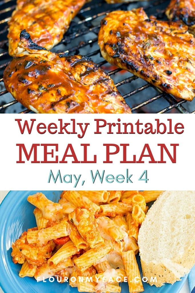 May Menu Plan Week 4