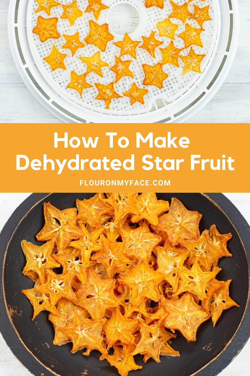 Featured image of dehydrating fresh star fruit