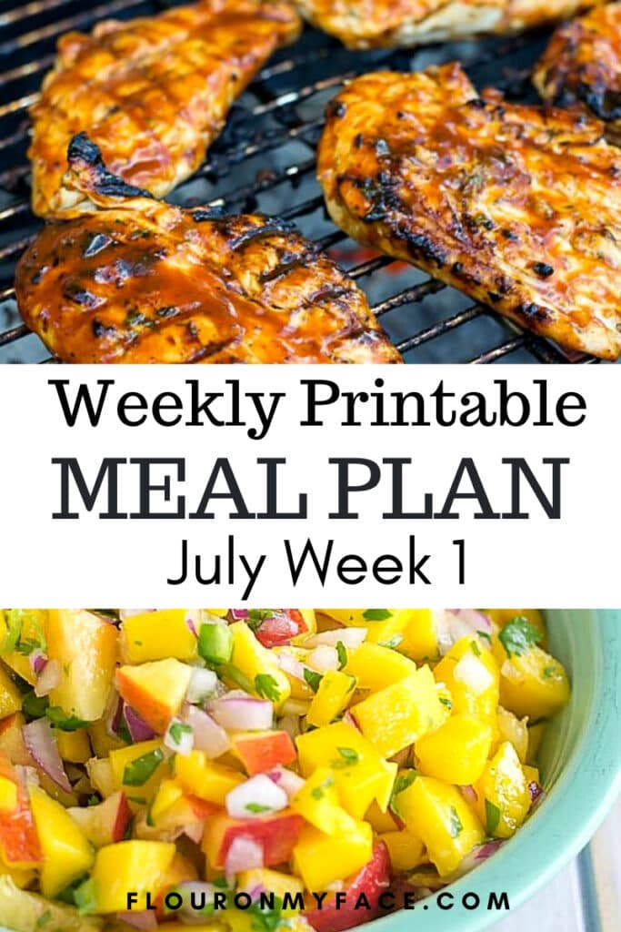 July Weekly Meal Plan 1 menu plan preview