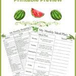 July Meal Plan Printables