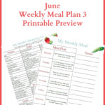 June Meal Plan Week 3 Printables Preview