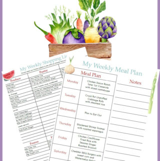 Weekly June Meal Plan Week 4 printable preview