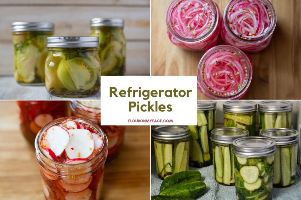Featured collage image for the Quick Pickled Recipes