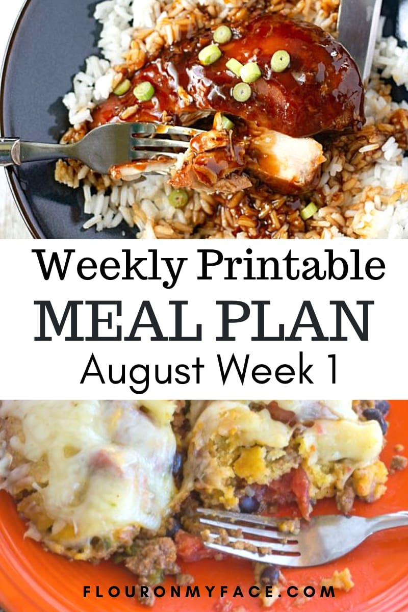 August Meal Plan Week 1 Preview