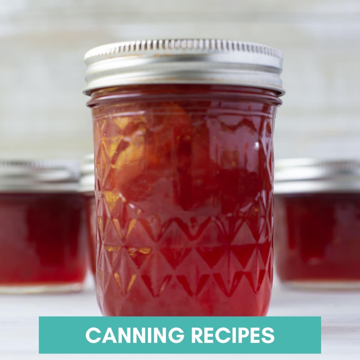 close up image of a jar of homemade jam