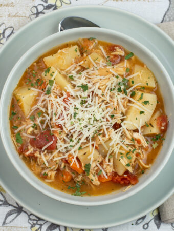 Crock Pot Chicken Parmesan Stew