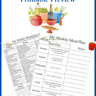 July Meal Plan 4 Printable Preview