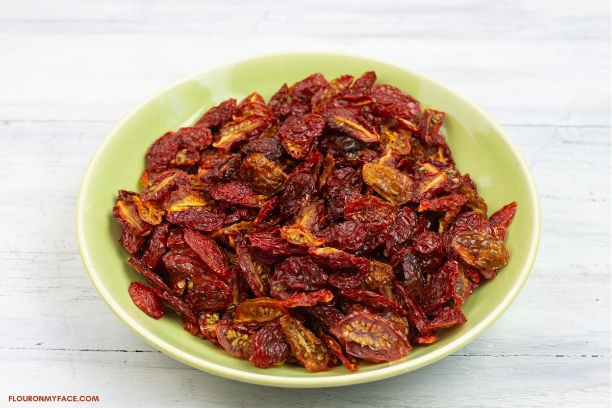 dehydrated grape tomatoes in a bowl