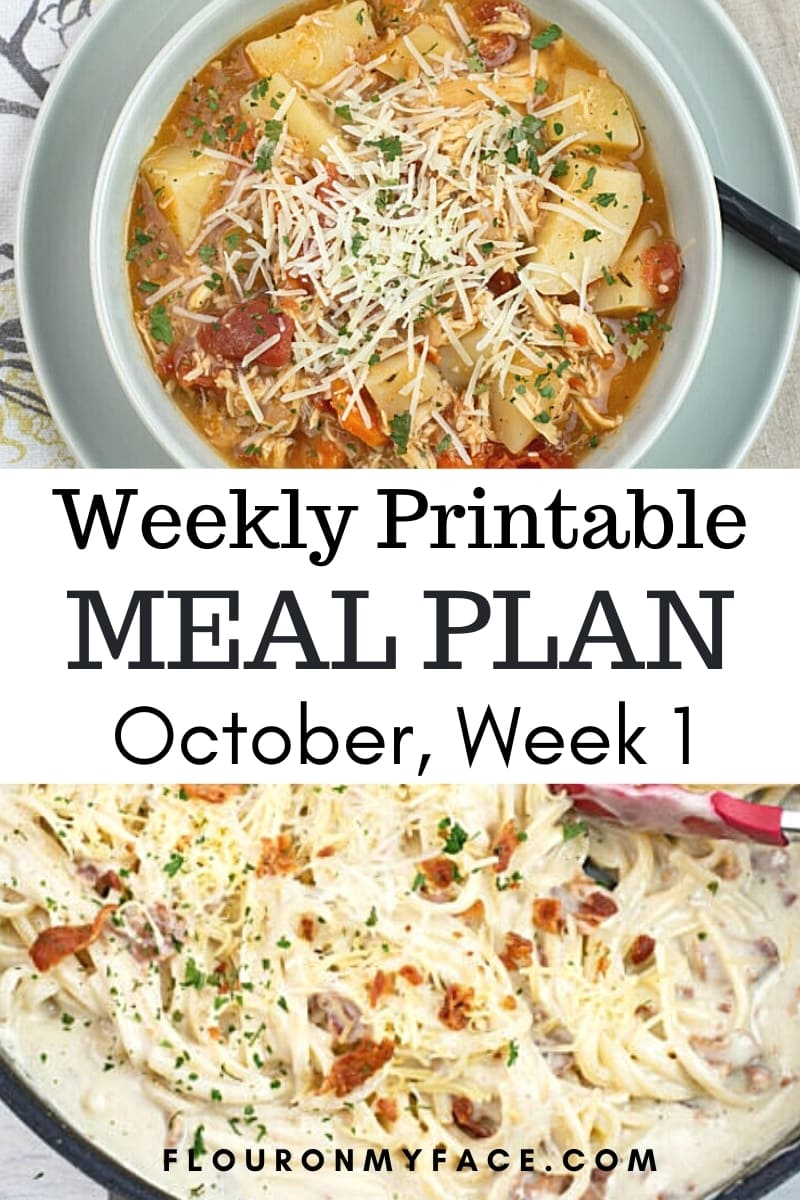 October Weekly Meal Plan 1 Preview image