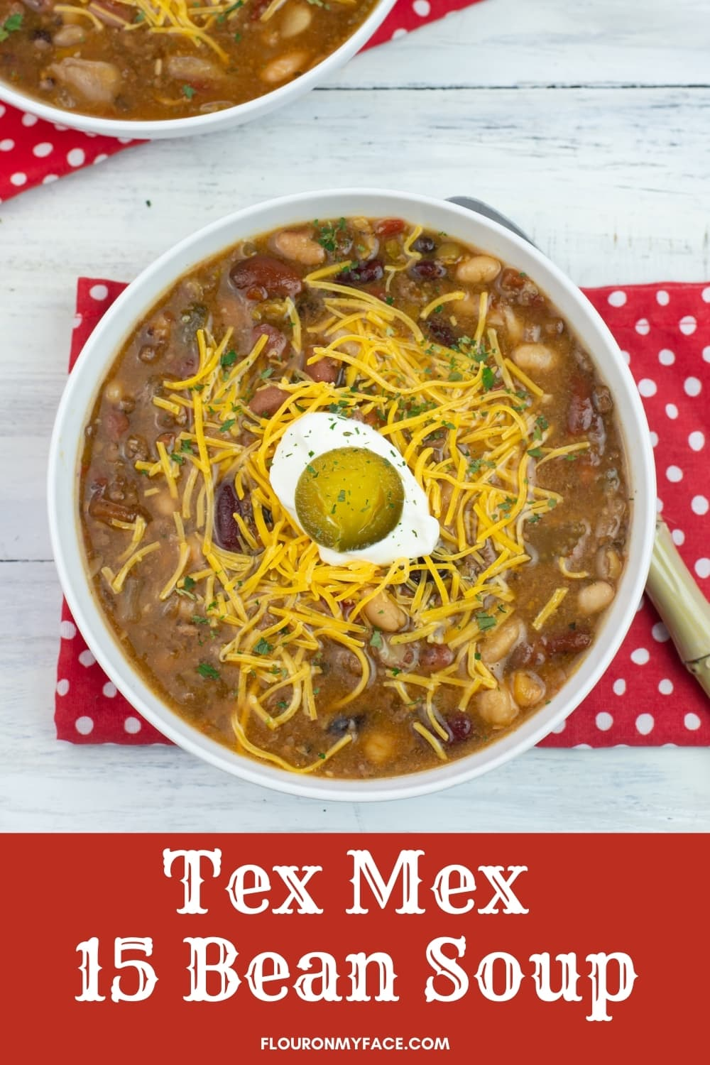 Crock Pot Tex Mex Soup vertical image with text overlay