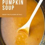 Pumpkin Soup in the crock pot before blending