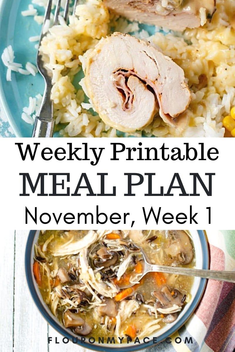 November Weekly Menu Plan 1 preview image