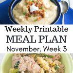 Preview image for the November Menu Plan Week 3